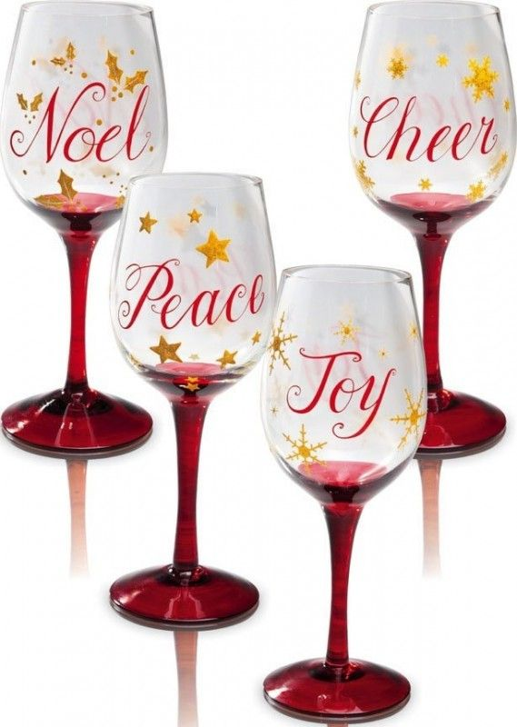 Christmas Slippers Wine Glass  - Great as a gift or for yourself.$74.23  Link    #Christmas