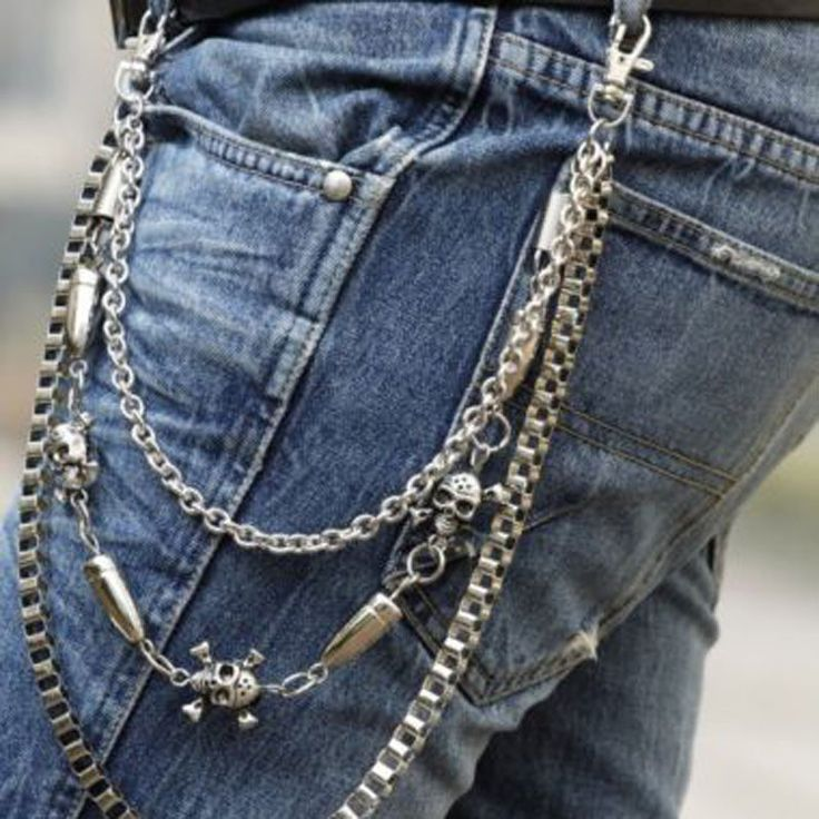 Belt Chain Waist Men Trousers Chain Hip-Hop Metal Chain Street Boy Punk Men Trousers Pants Punk Skull Jean Gothic Rock Chain n30 Alternative Measures