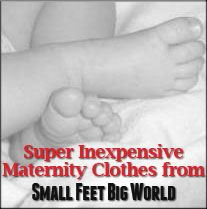 Super Inexpensive Maternity Clothes from Small Feet Big World.