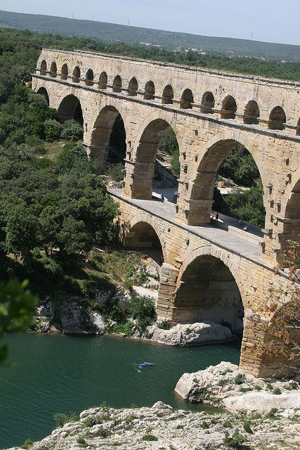 Pont du Gard, France: one of my favorite memories is swimming here in the summer with my bestie ❤️