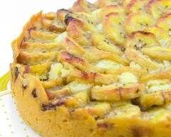 Tarte sablée aux banane et yaourt : http://www.cuisineaz.com/recettes/tarte-sablee-aux-banane-et-yaourt-53345.aspx