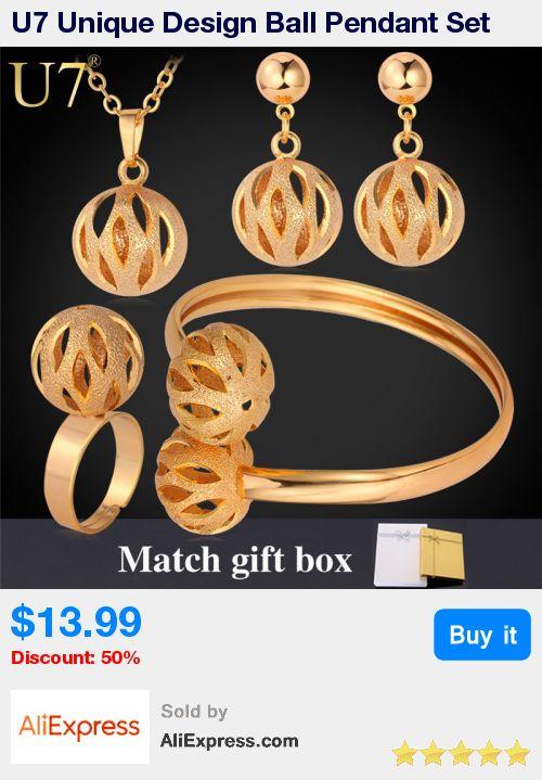 U7 Unique Design Ball Pendant Set Wholesale Gold/Silver Color Trendy Party Bridal Jewelry Sets For Women S579 * Pub Date: 16:50 Jul 12 2017