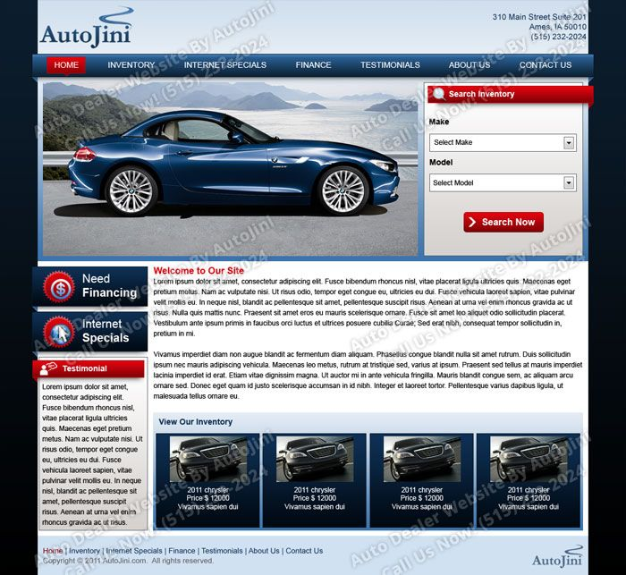 Free Auto Dealer Website Templates Website Template Car