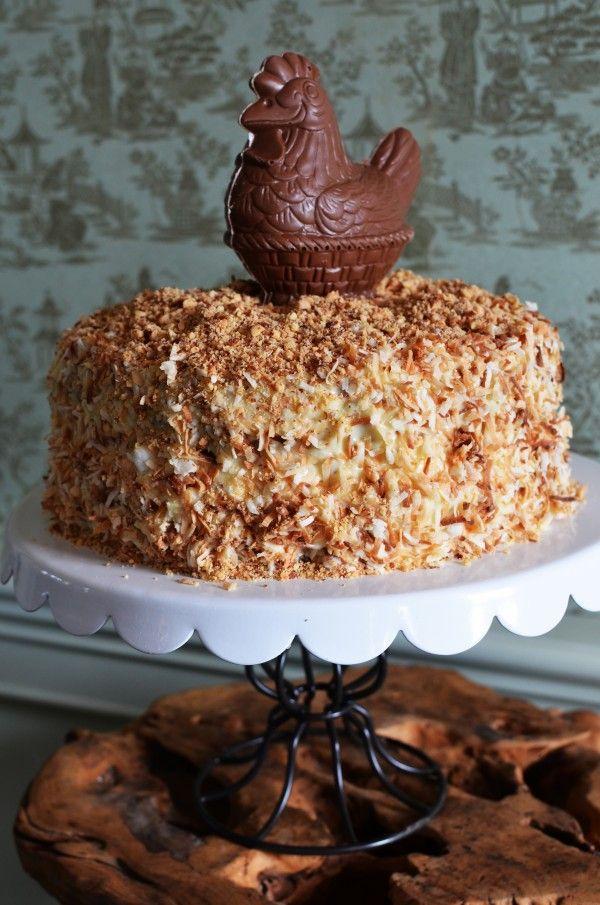 The Chicken Scratch Cake. Get the recipe at Beekman1802.com