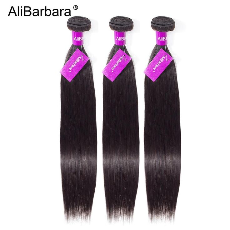 AliBarbara Hair Remy 100% human hair weaves Brazilian straight hair…
