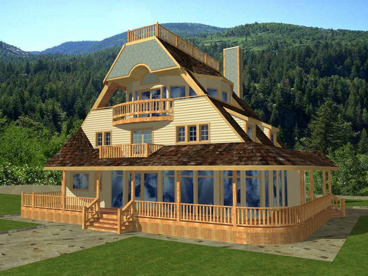 95 best country house plans images on pinterest country for Unique country house plans