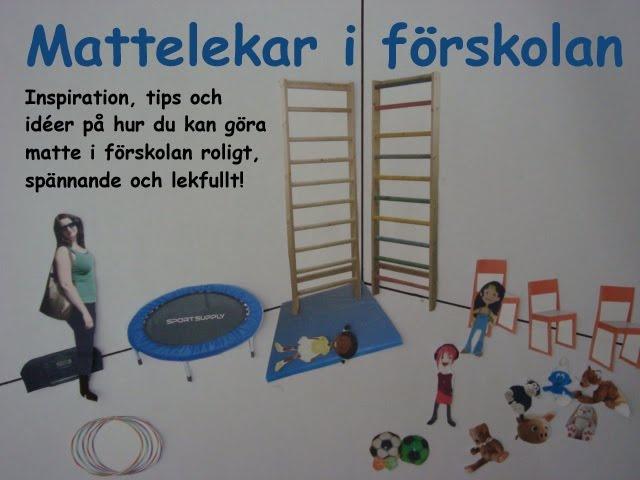 Mattelekar i förskolan