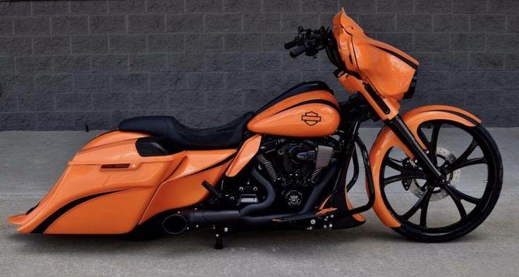 Orange you glad I pinned this custom Harley Street Glide?
