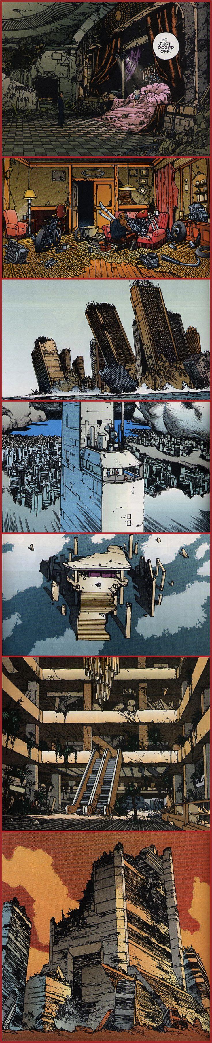 "Architecture and cityscapes from Katsuhiro Otomo's ""Akira"""