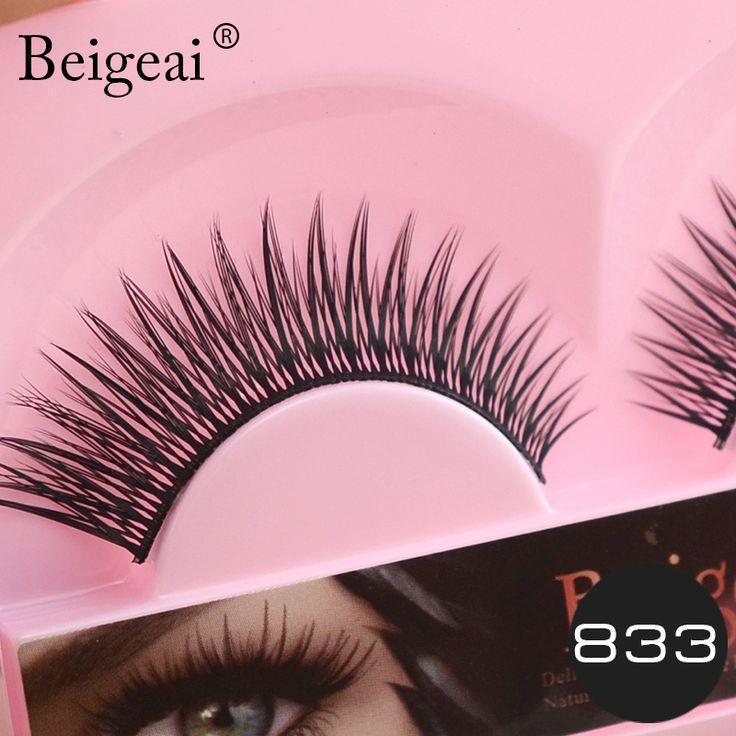 Hot Sell Natural Fake Eyelashes Makeup Beigeai Brand Handmade Cross False Eye Lashes Applicator Tools 5 Pairs Curling Eyelashes