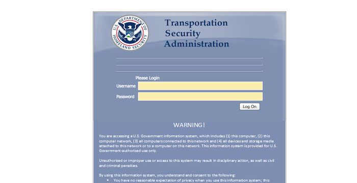 TSA email sign in