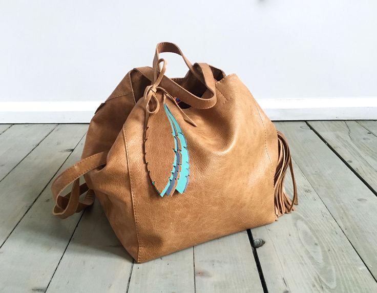 Nordic Sack Beige Leather
