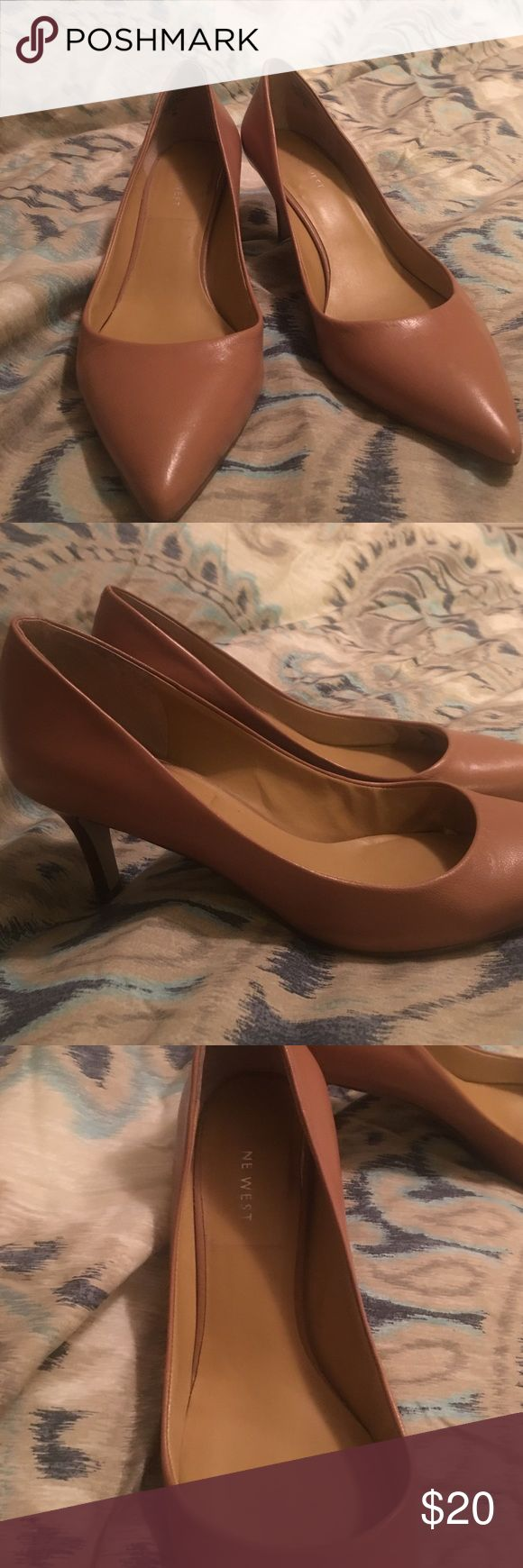 Nine West Tan High-heel Size 9M tan high heel with 3 inch heel. Worn gently. Nine West Shoes Heels