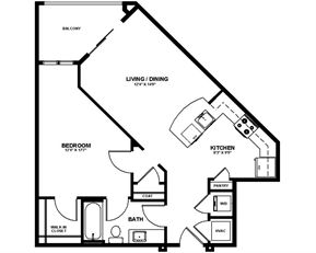 Apartments in Charlotte | The Mint Floor Plans