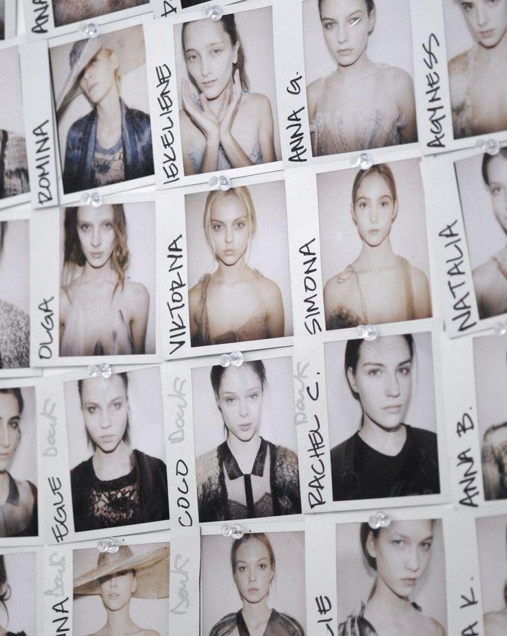 Model Polaroids Backstage at Rodarte Autumn/Winter 2008