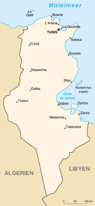 Politische Karte von Tunesien ◆Tunesien – Wikipedia http://de.wikipedia.org/wiki/Tunesien #Tunisia