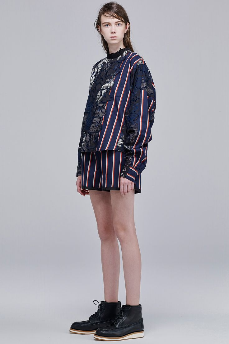 Sacai Resort 2016 - Collection - Gallery - Style.com  http://www.style.com/slideshows/fashion-shows/resort-2016/sacai/collection/6