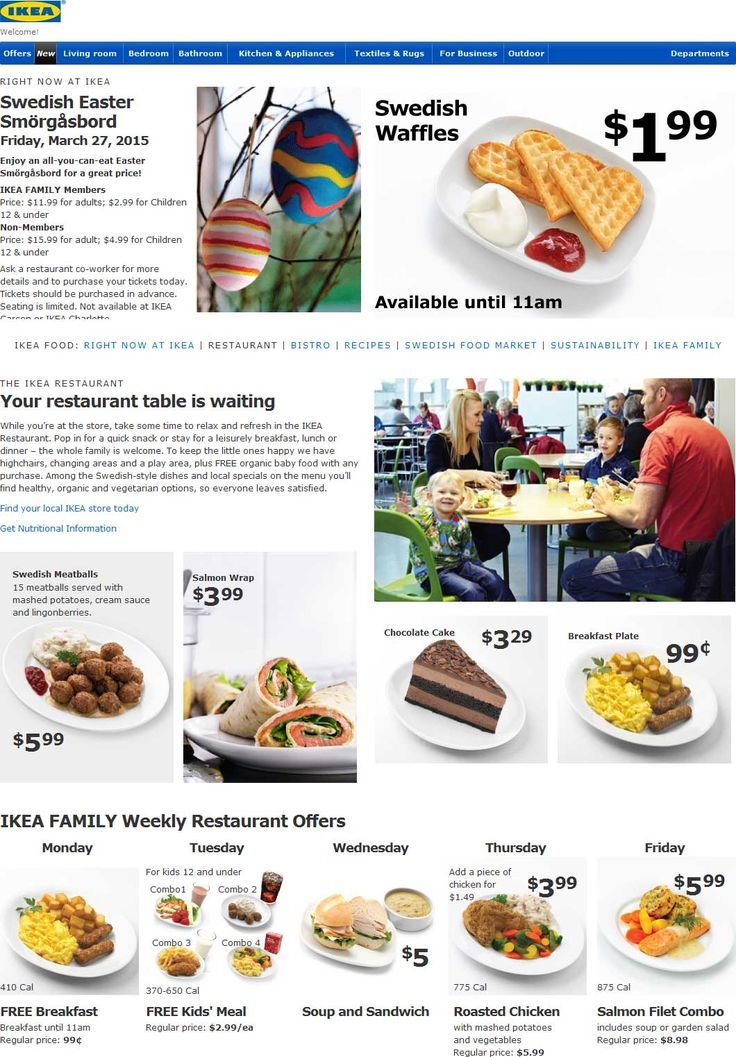 Pinned March 23rd: #Free breakfast Monday free kids meal Tuesday at #IKEA #coupon via The #Coupons App