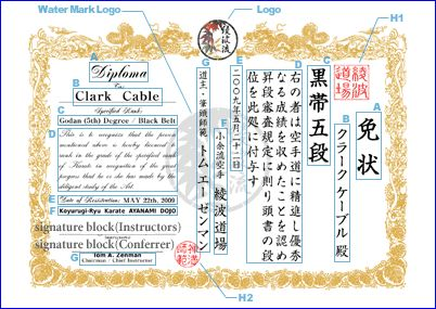 35 best martial arts certificates images on pinterest getting martial arts certificate custom design kanji tattoo and body art yelopaper Images