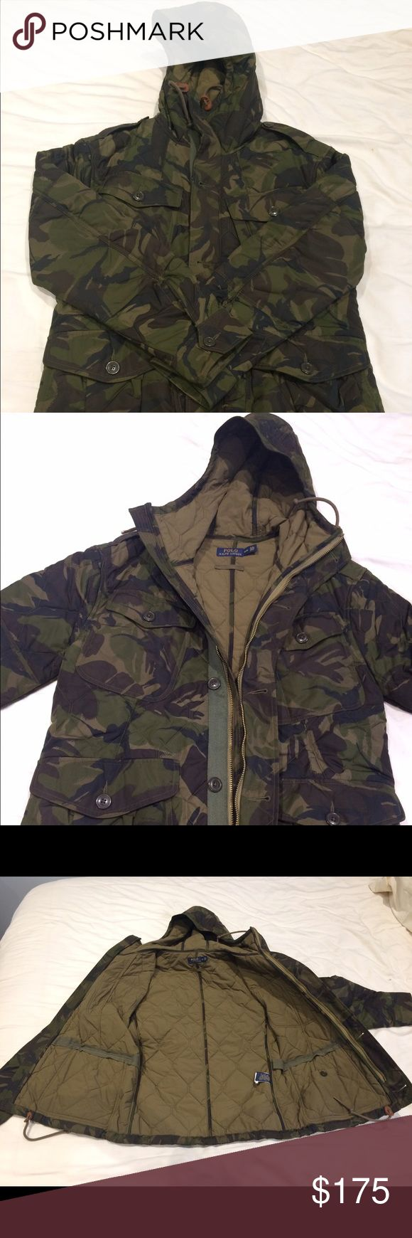 Polo Ralph Lauren winter jacket This is a camo winter jacket. Purchased from Polo Ralph Lauren Outlet in Gilroy. Great condition (10/10), never worn. Polo by Ralph Lauren Jackets & Coats Military & Field