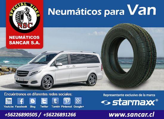 Neumáticos para VAN despacho a todo Chile   Visítenos: www.sancar.cl – ventas@sancar.cl - Antillanca 560 módulo 5 Lo Boza Pudahuel - Teléfono +56226890505 | Bascuñán Guerrero 540 Santiago - Teléfono +56226891266