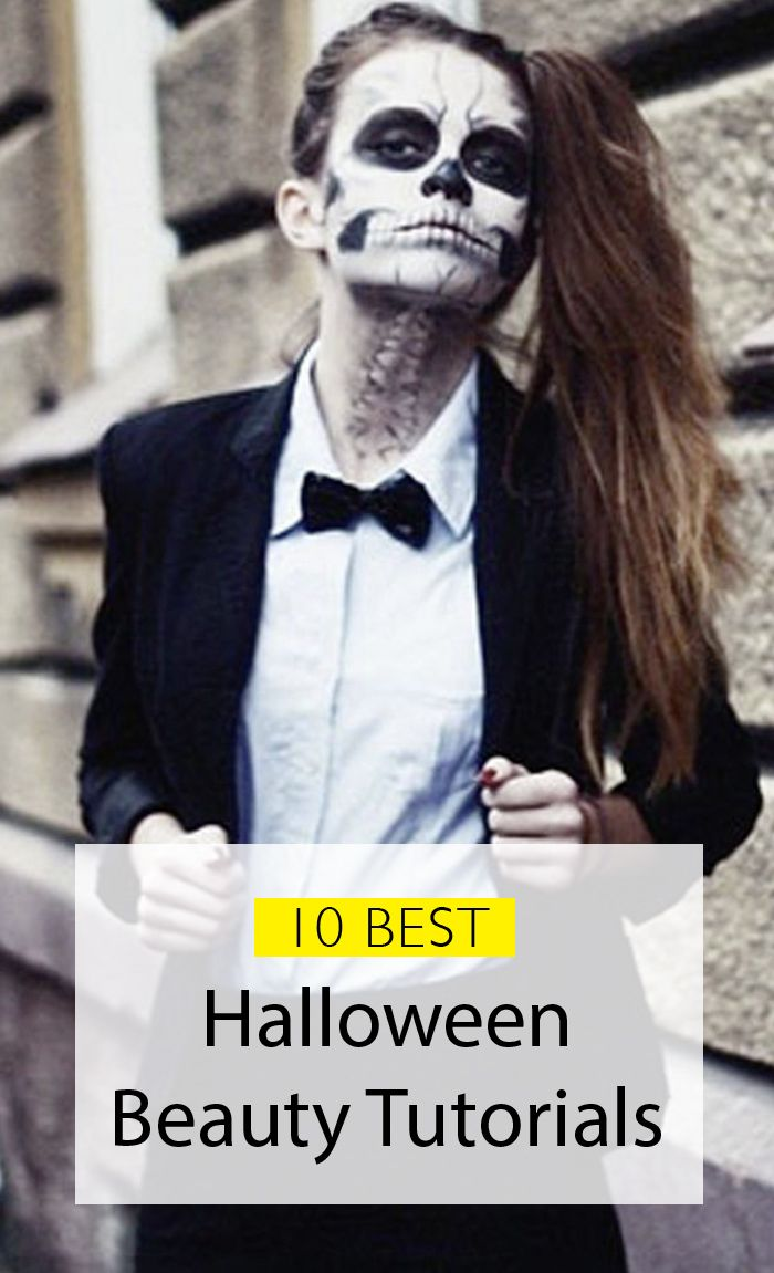 Halloween make-up tutorials for a spooky look!                                                                                                                                                     More