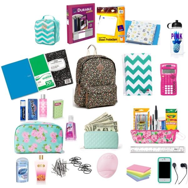 """""""What's in my backpack"""" by ari-alvarez on Polyvore"""