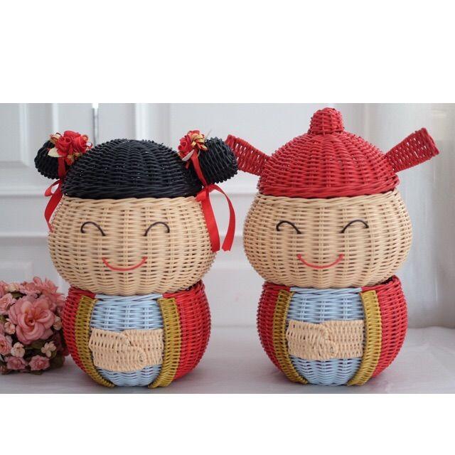 Корзина Rattan China Doll