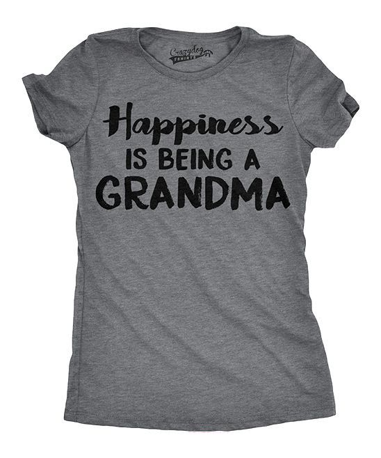 Heather Dark Gray Happiness Is Being A Grandma Fitted