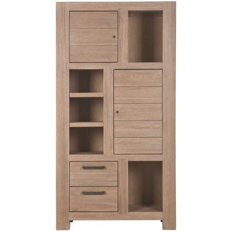 Urban Cabinet 2 Drawer/2 Door Natural/Grey