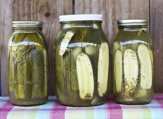 Claussen copycat recipe.  Made my own pickling spice w/ mustard seed, celery seed, peppercorns, dash of ground allspice & crushed red pepper.  Doubled the garlic.  Made Saturday, in jars on Monday.  Awesome!   7/29/13.   Note: next time cut down the salt a bit.   I used white vinegar