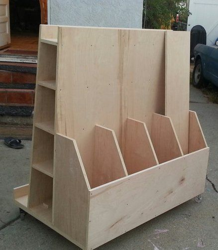 17 best ideas about lumber storage on pinterest lumber for Rolling lumber cart plans