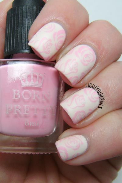 Pastel Floral nail art feat. Faby Prosecco and Floral BPX-L017 nail stamping plate by @bornprettystore