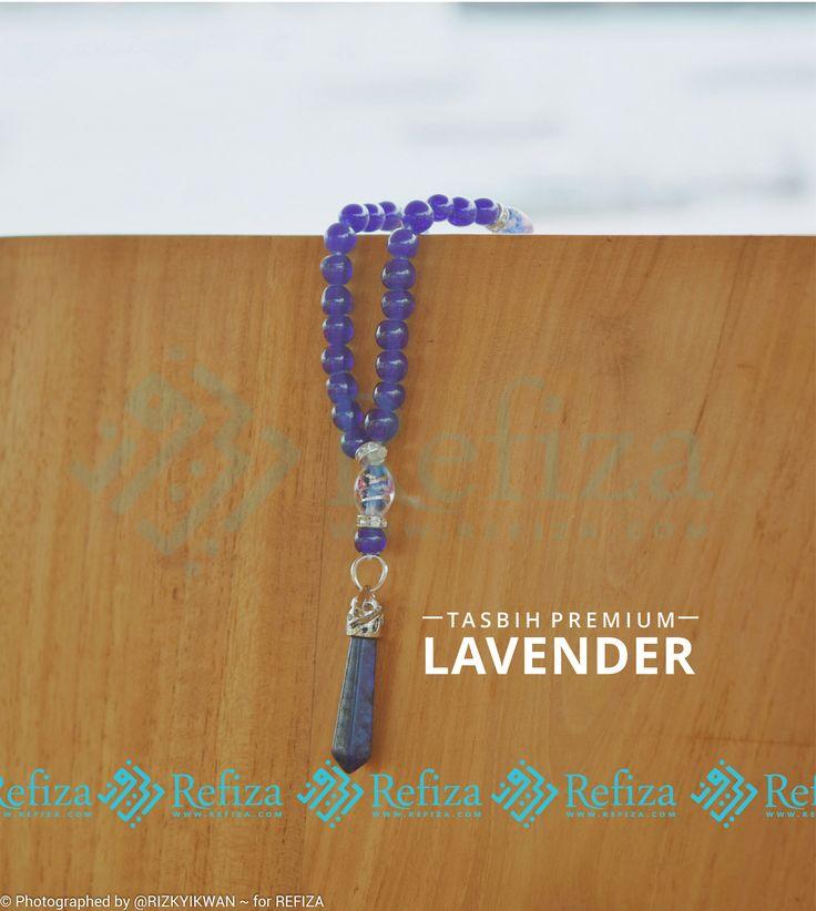 Tasbih premium terbaru Refiza, Tasbih Lavender dengan warna ungu nan cantik yang dipadupadankan aksesoris unik untuk menemani dzikirmu