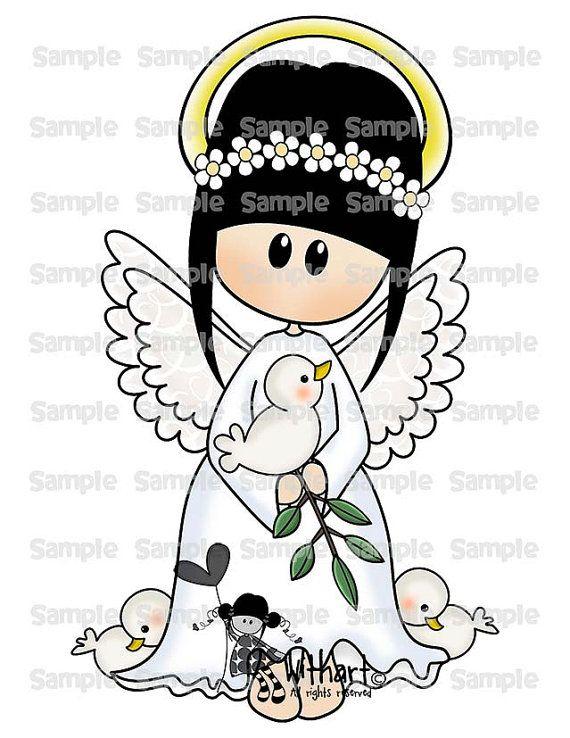 Christmas angel Nina dolls 0108 clip art set images for