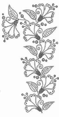 De bordado en piedras preciosas: FLORES DE RIESGOS