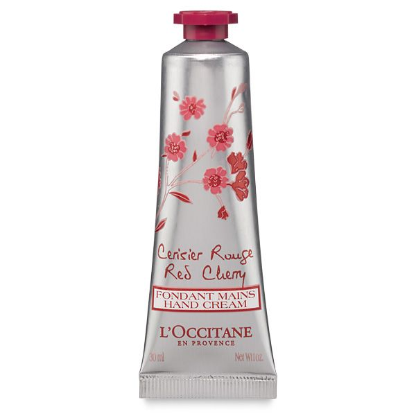 Pamper your hands with the Cerisier Rouge Hand Cream. Its smooth gel texture melts into the skin, leaving it soft and moisturized. Our formula includes a cherry extract from the Luberon region of Provence and leaves behind the floral fruity scent of Cerisier rouge.