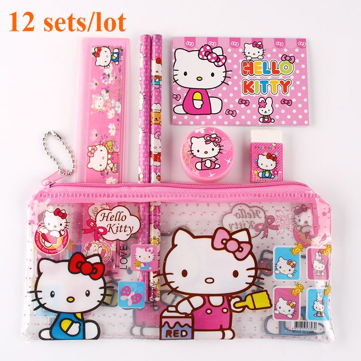 Hello Kitty Sets 12sets //Price: $38.99 & FREE Shipping // World of Hello Kitty http://worldofhellokitty.com/12-setslot-hello-kitty-pencil-case-children-sticker-cute-cartoon-school-supplies-stationery-kawaii-pencil-cases-for-girls-gift/ #collectibles