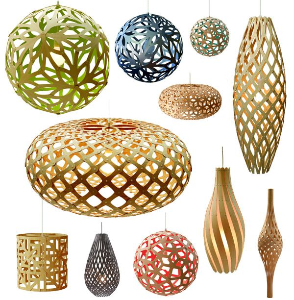 New Zealand-based David Trubridge has got to be one of the most amazing contemporary lighting designers working today. His work has a rabid fan base because of its beautiful natural and organic feel but also for the modern/geometric look it sports, too.