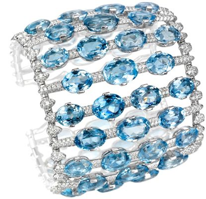 Aquamarine and Diamond Bracelet by Chopard
