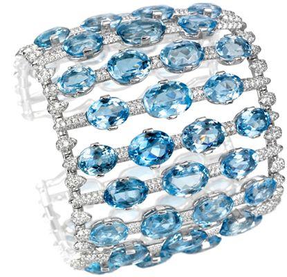 Harry Winston aquamarine bracelet     ᘡղbᘠ