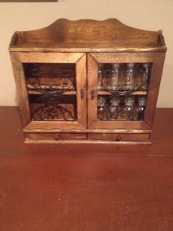 Vintage spice rack - 71 Best Vintage Spice Cabinets And Racks Images On Pinterest Spice