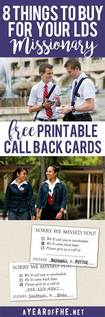 A Year of FHE // This is a great list, made by a Return Sister Missionary, about items she wished she had when she served her mission. It also includes FREE downloads of LDS Missionary Call Back cards!  #lds #missionary #gifts