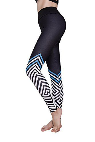 83c0b8bf5 SEASUM Women 3D Printed Leggings Sports Gym Yoga Workout High Waist Running  Pants Causual Fitness Tights Dry Fit