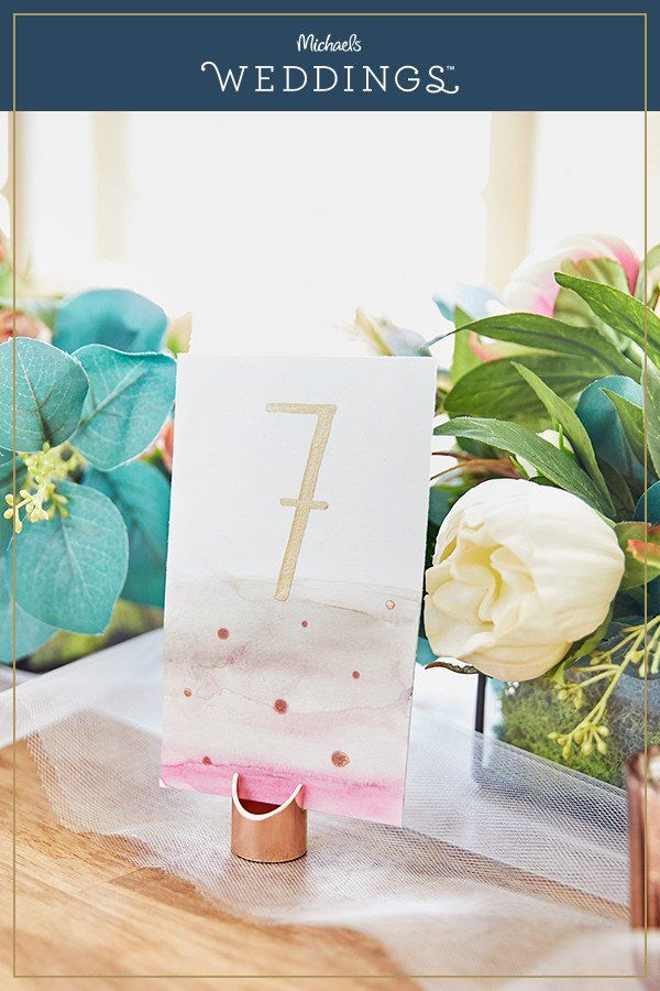 Make this watercolor table numbers project it
