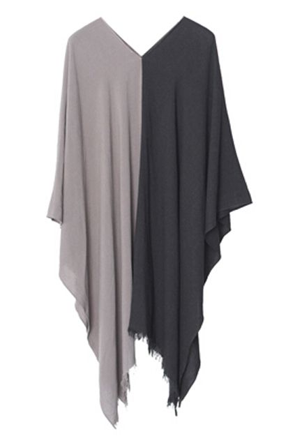 Color Block Asymmetric Loose Dress