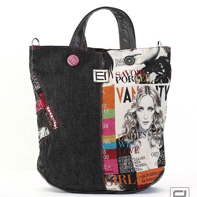 #norakocziszky #handmade #bag #unique #jeans #colors #fashion