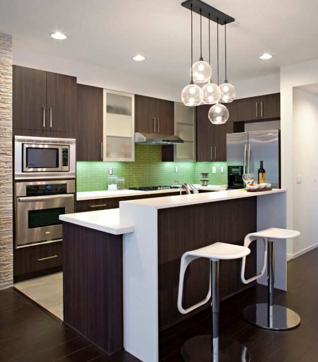 Open kitchen design for small apartment interior design for Modern apartment kitchen design