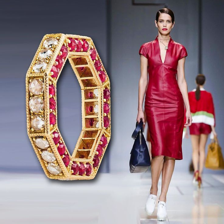 This #beauty walking the #Trussardi show at #Milan #fashion #week could be even more #red hot with a bit of #bling. Might we suggest the #Parulina #Sovereign #ring in #ruby and #diamond? Redefining #hot #summer #nights. #jewelry #rings #diamonds #jewelry #الماس #مجوهرات  #الذهب #موضة  #diamants #bijoux #luxe #mode #italian