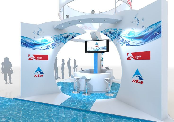 Close up of Exhibition stand